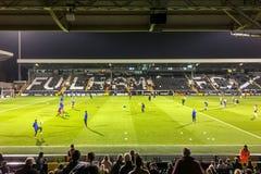 LONDON/UK - 14. MÄRZ: Vor Match-Aufwärmen an Craven-Häuschen in Fu Stockfotografie