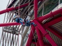 LONDON/UK - 13 MAI : La sculpture en orbite d'ArcelorMittal au Qu Image libre de droits