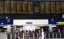 LONDON UK - MAJ 14, 2014 - Waterloo internationell station Royaltyfri Bild