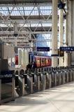 LONDON UK - MAJ 14, 2014 - Waterloo internationell station Arkivfoton