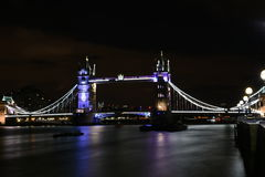 London, UK, Majestic and historic Tower Bridge at night Stock Photo