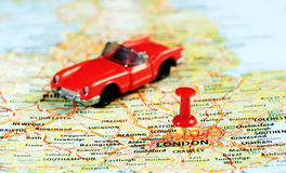 London ,UK   map pin auto Royalty Free Stock Images