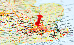 London ,UK   map pin Stock Photography