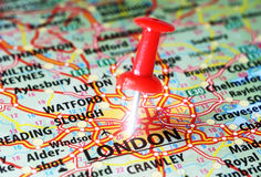 London ,UK   map pin Royalty Free Stock Photography