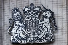 Free LONDON/UK - MARCH 21 : Coat Of Arms Of The Supreme Court Of The Royalty Free Stock Photos - 112916548
