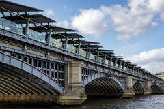 Blackfriars Bridge over the River Thames in London on March 11, 2019 stock photography