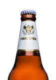 LONDON, UK - MARCH 15, 2017: Bottle of Singha beer , Singha beer is most popular in thailand , Rayong , Thailand Royalty Free Stock Photos