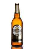 LONDON,UK - MARCH 21, 2017 : Bottle of Warsteiner Beer on white. Product of Germany`s largest privately owned brewery. Stock Photos