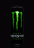 LONDON, UK - MARCH 15, 2017:  A can of Monster Energy Drink on black. Introduced in 2002 Monster now has over 30 different drinks Stock Images