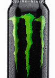 LONDON, UK - MARCH 15, 2017:  A can of Monster Energy Drink on white. Introduced in 2002 Monster now has over 30 different drinks Stock Photo