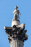 LONDON/UK - MARCH 7 : Close-up view of Nelson's Statue in Trafal Royalty Free Stock Image