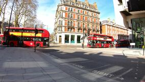 London, UK, March 22, 2020: Coronavirus London lockdown empty streets. Victoria