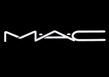 LONDON, UK - MARCH 15, 2017: MAC Cosmetics logo white font on black. MAC Cosmetics was founded in Toronto, Ontario, Canada in 198. LONDON, UK - MARCH 15, 2017 royalty free illustration