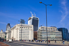 LONDON, UK - MARCH 29, 2014  South bank walk of the river Thames Stock Image