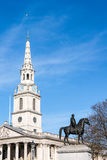 LONDON/UK - MARCH 7 : St Martin-in-the-Fields Church Trafalgar S. Quare on March 7, 2015 Stock Images