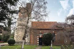 Sunny day in spring at St Dunstan`s Church, in Cranford Park