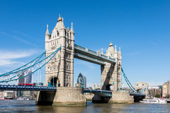 LONDON/UK - MARCH 7 : Tower Bridge in London on March 7, 2015. U. Nidentified people Royalty Free Stock Image