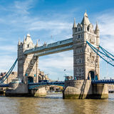 LONDON/UK - MARCH 7 : Tower Bridge in London on March 7, 2015. U. Nidentified people Stock Image
