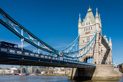LONDON/UK - MARCH 7 : Tower Bridge in London on March 7, 2015. U. Nidentified people Royalty Free Stock Images