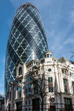 LONDON/UK - MARCH 7 : View of the Gherkin building in London on Royalty Free Stock Image