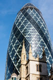 LONDON/UK - MARCH 7 : View of the Gherkin building in London on Royalty Free Stock Photography