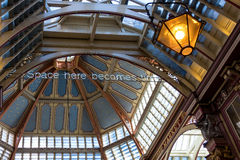 LONDON/UK - MARCH 7 : View of Leadenhall Market in London on Mar. Ch 7, 2015 Royalty Free Stock Image