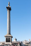 LONDON/UK - MARCH 7 : View of Nelson's Statue and Column in Traf Royalty Free Stock Image