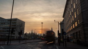 London, UK - MARCH 11, 2016: Westminster and Parliament,  Time-Lapse. Time Lapse of the Big Ben at afternoon just before sunset on the South Bank of the Thames stock footage