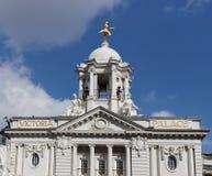 LONDON/UK - MARS 21: Sikt av Victoria Palace i London på Marc arkivbilder