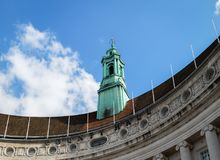 LONDON/UK - 21 MARZO: La torre verde di vecchia contea Hall Bu Fotografie Stock
