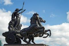 LONDON/UK - 21 MARZO: Monumento a Boudicca a Londra il 2 marzo Fotografie Stock