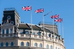 LONDON/UK - 7 MARZO: Orizzonte di grandi costruzioni 1 - 5 la S Immagini Stock Libere da Diritti
