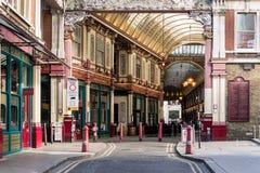 LONDON/UK - 7 MARZO: Vista del mercato di Leadenhall a Londra marzo Fotografia Stock Libera da Diritti