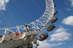 LONDON/UK - 21 MARZO: Vista dell'occhio di Londra a Londra marzo Immagini Stock Libere da Diritti