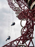 LONDON/UK - MAY 13 : The ArcelorMittal Orbit Sculpture at the Qu. Een Elizabeth Olympic Park in London on May 13, 2017. Unidentified people Stock Photo