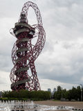 LONDON/UK - MAY 13 : The ArcelorMittal Orbit Sculpture at the Qu. Een Elizabeth Olympic Park in London on May 13, 2017. Unidentified people Royalty Free Stock Photo