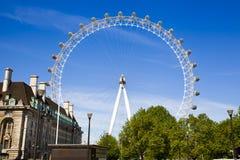 LONDON, UK - MAY 14, 2014 - London eye is a giant Ferris wheel opened Stock Photo