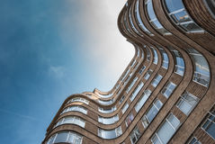 LONDON, UK - MAY 12, 2016: Low angle view of the  Art Deco Flori. N Court apartment building i Royalty Free Stock Images