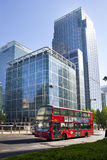 LONDON, UK - MAY 14, 2014: Office buildings modern architecture of Canary Wharf aria the leading centre of global finance. LONDON, UK - MAY 14, 2014: Office Stock Images