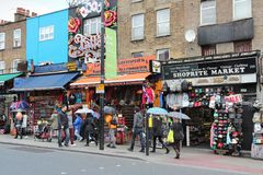 London Camden Town. LONDON, UK - MAY 15, 2012: Shoppers visit Camden Town borough of London. According to TripAdvisor, Camden Town currently is one of top 10 Royalty Free Stock Photos