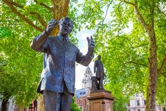 Statue of  Nelson Mandela at the Parliament Squarein London, UK
