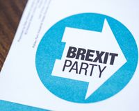Brexit Party royalty free stock images