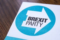 Brexit Party royalty free stock image