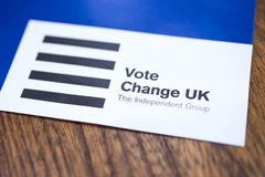 Change UK Political Party royalty free stock photo