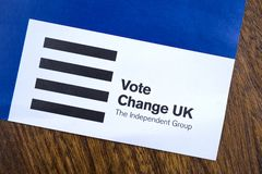 Change UK Political Party stock photos