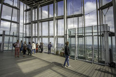 London, UK-May,10th,15 The Shard viewing point of tallest buildi Royalty Free Stock Photography