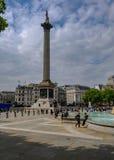 London, UK - May 11, 2017:  Trafalgard Square and Nelson`s Colum Stock Images