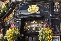 London, UK - May 14, 2019: Typical English pub at Covent Garden district. stock photo