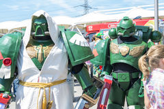 LONDON, UK - May 26: Warhammer space marine cosplayers outside t Stock Image