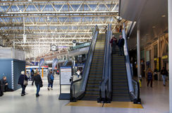 LONDON, UK - MAY 14, 2014 - Waterloo international station Royalty Free Stock Photos